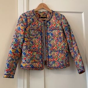 J.Crew Quilted lady jacket Liberty Margaret Annie